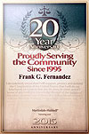 15 Year Anniversary Award to Frank Fernandez from Martindale