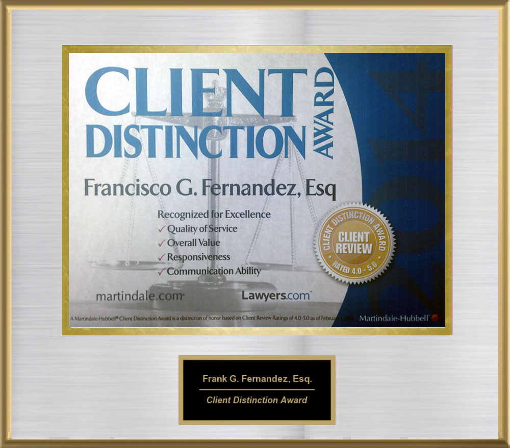 2014 Martindale Hubble Client Distinction Award