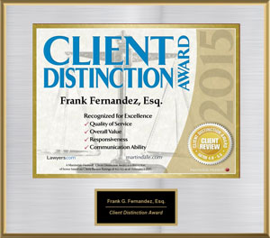 2015 Martindale Hubble Client Distinction Award
